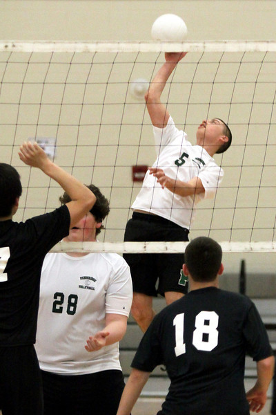 Kolby Smith sends the ball from the center of Pennridge's zone.