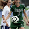 Pennridge's Shannon Chynoweth traps the ball in a game against Wisssahickon.    Montgomery Media photo by Bob Raines_ 09/28/11