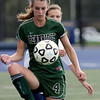 Pennridge's Shannon Chynoweth traps the ball during a game against Wissahickon.   Montgomery Media photo by Bob Raines_ 09/28/11
