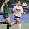 Wissahickon's Laura Frankenfield and Pennridge's Shannon Chynoweth charge the ball.  Montgomery Media photo by Bob Raines 9/28/11