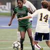 Pennridge forward Natalia Pinkney changes direction away from Wissahickon's Alisa Ryan.   Montgomery Media photo by Bob Raines_ 09/28/11