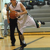 Mike Guldin of Pennridge saves ball from going out of bounds in game against CB East, Friday night. KenZepp 1-28-11