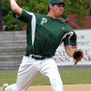 Pennridge starter Jared Schaffer fires ball to plate in playoff game against Hatfield, Monday afternoon. KenZepp 7-12-10