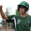 Lou Trivino of Pennridge gets congratulated after scoring run in playoff game against Hatfield, Monday. KenZepp 7-12-10