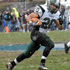 Jesse Knepp carries ball in game against Quakertown, Thursday. KenZepp 11-25-10