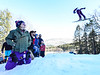 KRISTOPHER RADDER - BRATTLEBORO REFORMER<br /> People gather at the end of the inrun to watch jumpers lift into the air during the Pepsi Challenge / US Cup at the Harris Hill Ski Jump in Brattleboro, Vt., on Saturday, Feb. 18, 2017.