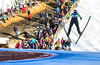 KRISTOPHER RADDER - BRATTLEBORO REFORMER<br /> Patrick Gasienca soars during the Pepsi Challenge / US Cup at the Harris Hill Ski Jump in Brattleboro, Vt., on Saturday, Feb. 18, 2017. Gasienca came in 8th in the US Cup with a final score of 216.5.