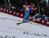 KRISTOPHER RADDER - BRATTLEBORO REFORMER<br /> Josef Dirnbauer lands at 88.0 in his second jump during the Pepsi Challenge / US Cup at the Harris Hill Ski Jump in Brattleboro, Vt., on Saturday, Feb. 18, 2017.