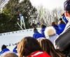 KRISTOPHER RADDER - BRATTLEBORO REFORMER<br /> Crowds watch AJ King soar during the Pepsi Challenge / US Cup at the Harris Hill Ski Jump in Brattleboro, Vt., on Saturday, Feb. 18, 2017. King came in 13th in the junior division with a final score of 89.5.