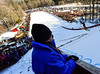 KRISTOPHER RADDER - BRATTLEBORO REFORMER<br /> People watch Brian Wallace land at the base during the Pepsi Challenge / US Cup at the Harris Hill Ski Jump in Brattleboro, Vt., on Saturday, Feb. 18, 2017. Wallace came in 2nd in the US Cup with a final score of 288.5.