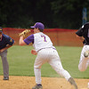 Upper Moreland's Mike Janas forces Phoenixville runner Cal Milano at first.<br /> Bob Raines 5/24/10