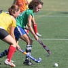 Rachel Konowal, right, tries to get the ball past defender Karli Rosen during field hockey practice at Plymouth Whitemarsh.<br /> Bob Raines 8/30/10