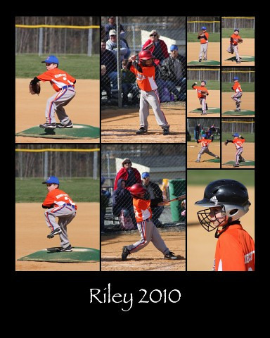 NEW OPTION.... Custom Collage....  multiple photos.... make a collage that includes a photo of all of you players in different action poses.....great for your childs room, or makes a great coaches gift.