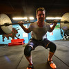 KRISTOPHER RADDER - BRATTLEBORO REFORMER <br /> Ian Currie, 31, of Springfield, Vt., lifts 315 pounds while training at Supreme Fitness in Brattleboro, Vt., on Monday, May 8, 2017. Currie will be competing with several others from around the world during Saturday's competition at Supreme Fitness.