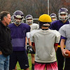 KRISTOPHER RADDER — BRATTLEBORO REFORMER<br /> Brattleboro Union High School and Bellows Falls football team prepare to face off against each other in the Vermont Principals' Association' Division 2 football Championship