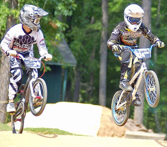 Pro BMX Racers Ty Robinson and Raymond Yoder