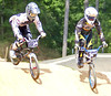 Pro BMX Racers Ty Robinson and Raymond Yoder.