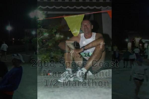 video summary of the 2008 Space Coast Marathon and Half-Marathon held in Cocoa Village, FL on 11/30/2008.