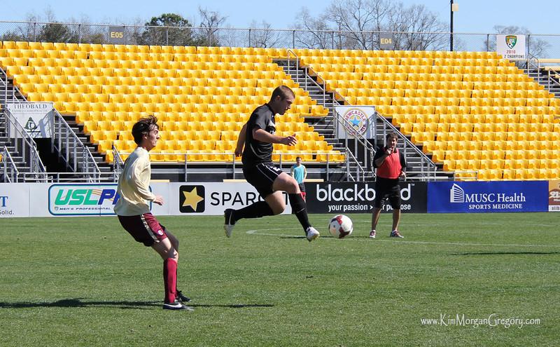 Charleston BATTERY vs College of Charleston Preseason 2014