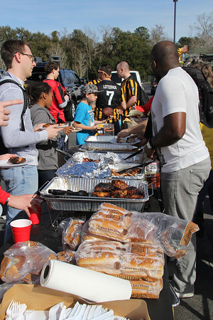 ~ REGIMENT TAILGATE ~  Where else can you get a spread like this?  Grilled everything with all the trimmings!
