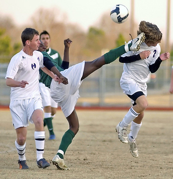 Ouch!! Lithia Springs High School Lions player gets a penalty for an obvious high kick against the Hiram Hornets.