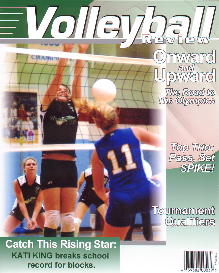 VOLLEYBALL Magazine <br /> (Sport Specific)  Your choice of photo and headline.  Click on photo to enlarge.