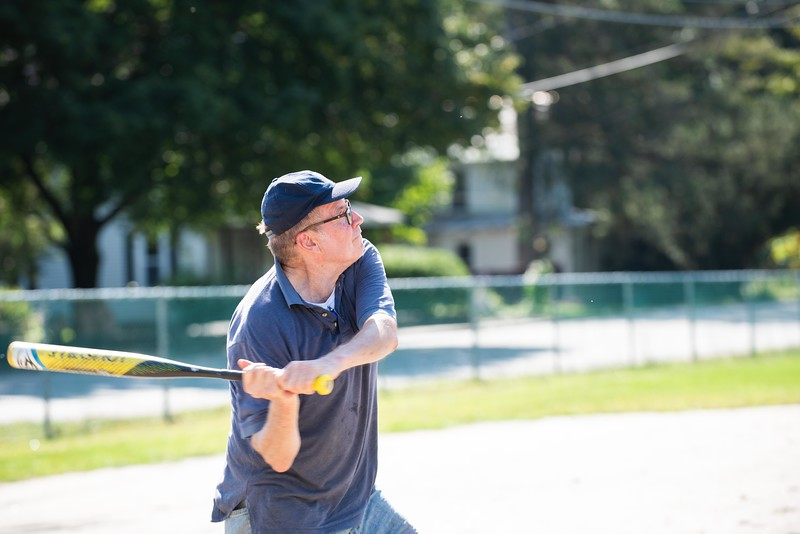 KELLY FLETCHER, REFORMER CORRESPONDENT -- Lloyd Graff waits for a pitch at Senior Softball -  a Recreation & Parks sponsored weekly gathering at Memorial Park on Tuesdays from 9:30 -11 AM.  They'll continue to play until the morning temperatures dip below 50 degrees. Men and women of all ages are welcome.