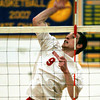 Souderton's Tim Jones spikes the ball to Cheltenham.
