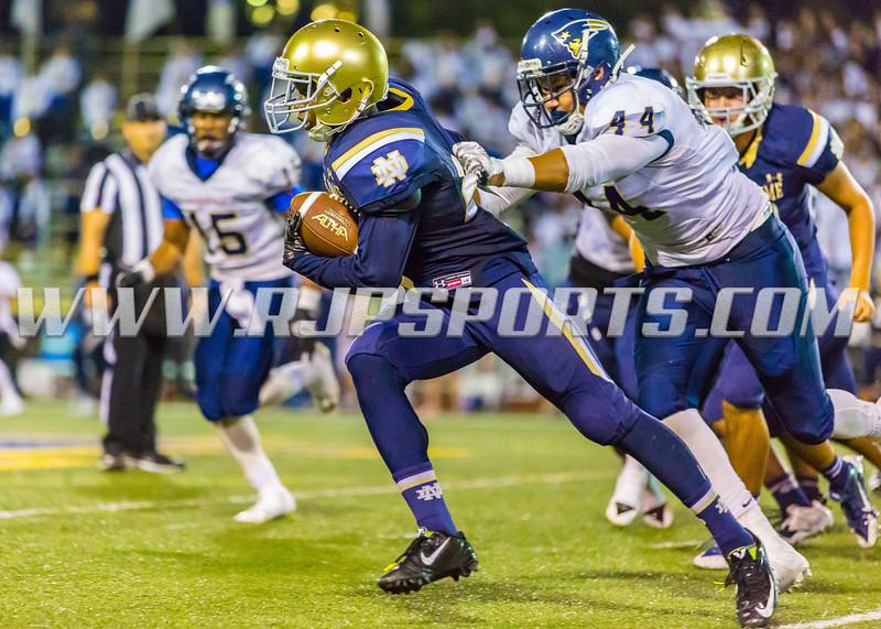High School Season 2015 -- Non-Conference Game Between Knights vs Patriots