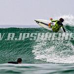 Surfing HB Pier, Southside (08/18/2016)