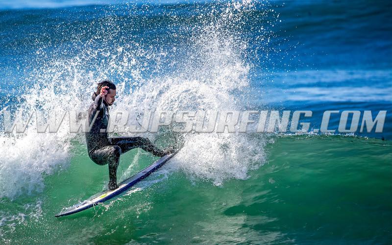 Surfing Manhattan Beach, 01/30/2021