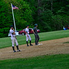 KRISTOPHER RADDER - BRATTLEBORO REFORMER<br /> Leland & Gray loses 14-11 against Woodstock during a baseball game at Leland & Gray Union Middle and High School on Wednesday, May 23, 2018.