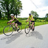 KRISTOPHER RADDER - BRATTLEBORO REFORMER<br /> Cyclists travel down Hinesburg Road during the Tour de Heifer on Sunday, June 4, 2017.