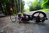 Alicia Dana, Putney resident, leaves her driveway for an endurance ride as she prepares herself for the Rio 2016 Paralympics. Kristopher Radder / Reformer Staff