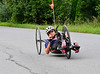 Alicia Dana, Putney resident, heads down Kimball Hill Road in Putney, Vt., at the start of an endurance ride as she prepares herself for the Rio 2016 Paralympics. Kristopher Radder / Reformer Staff