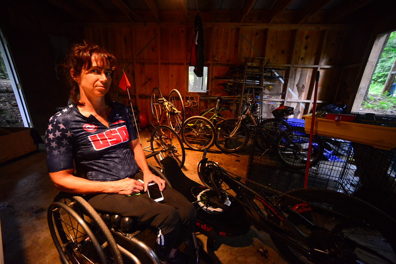 Alicia Dana, Putney resident, prepares herself for the Rio 2016 Paralympics. Kristopher Radder / Reformer Staff