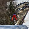 KRISTOPHER RADDER - BRATTLEBORO REFORMER<br /> Jumpers take a trial run at the Harris Hill Ski Jump in Brattleboro, Vt., on Saturday, Feb. 18, 2017.