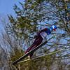 KRISTOPHER RADDER - BRATTLEBORO REFORMER<br /> Henry Johnstone soars in the air during a trial run at the Harris Hill Ski Jump in Brattleboro, Vt., on Saturday, Feb. 18, 2017.