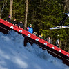 KRISTOPHER RADDER - BRATTLEBORO REFORMER<br /> People photograph Bryce Kloc during his trial run at the Harris Hill Ski Jump in Brattleboro, Vt., on Saturday, Feb. 18, 2017.