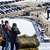KRISTOPHER RADDER - BRATTLEBORO REFORMER<br /> People photograph Hunter Gibson during his trial run at the Harris Hill Ski Jump in Brattleboro, Vt., on Saturday, Feb. 18, 2017.