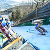 KRISTOPHER RADDER - BRATTLEBORO REFORMER<br /> Blaze Pavlic goes down the inrun during his trial run at the Harris Hill Ski Jump in Brattleboro, Vt., on Saturday, Feb. 18, 2017.
