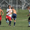 Upper Dublin's boys soccer team gets ready for the season with a shirts and skins scrimmage.<br /> Bob Raines 8/30/10