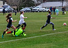 Vermont Academy's Leandra Echi gets around Rhode Island  St. Andrew's School's keep to score the first goal of the game. Kristopher Radder / Reformer Staff
