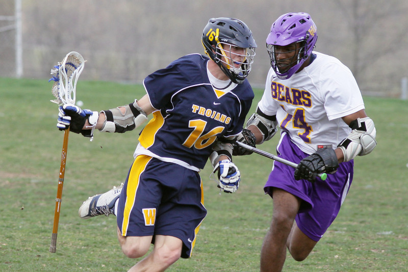 Wissahickon's Zach Scannapieco drives for the goal past Upper Moreland's Max Williams.