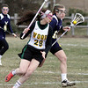 Wissahickon's Laura Frankenfield cuts behind Archbishop Wood's Megan Sears.