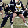 Wissahickon's Jackie Hibbs and Archbishop Wood's Erica Sheehan battle for the ball.