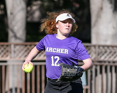 Archer vs St. Matthews softball game on April 10, 2018