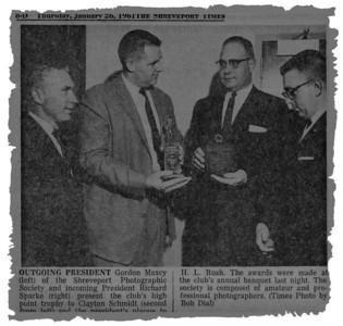 From the Shreveport Times: Thursday, January 26, 1961