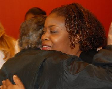 Masa & Larry share a hug...