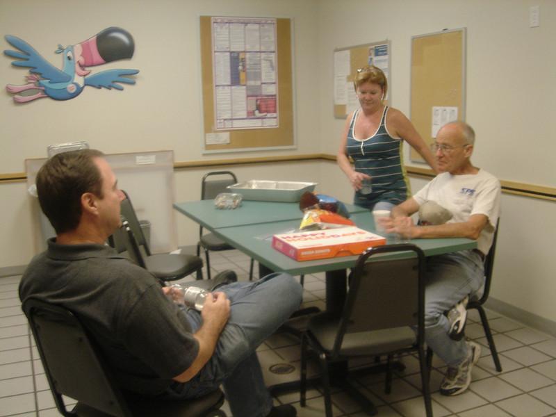 Ken, Dan & Theresa talk about old times.